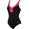 arena Renee Wing Back C-Cup One Piece Swimsuit Women black-rose violet-mango